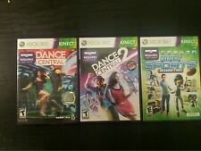 Lot of 3 XBOX 360 with Kinect Games Dance Central 1 & 2 Kinect Sports Season 2