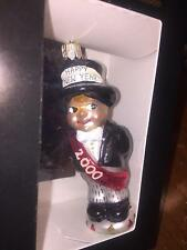 CHRISTOPHER RADKO ORNAMENT HAPPY NEW YEAR 2000  NIB WITH TAGS