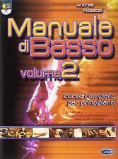 MANUALE CORSO METODO  PER BASSO ANDREA ROSATELLI volume 2 CON DVD ALLEGATO