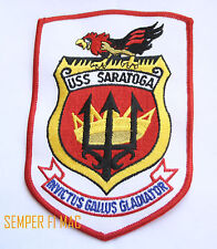 USS SARATOGA CV CVA-60 PATCH US NAVY VETERAN GIFT PIN UP SUPER CARRIER NJRS WOW