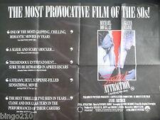 FATAL ATTRACTION ORIGINAL 1987 CINEMA QUAD POSTER MICHAEL DOUGLAS GLEN CLOSE