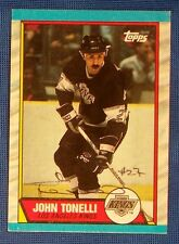 John Tonelli Los Angeles Kings 1989-90 Topps Signed Card