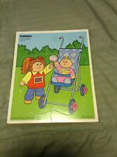 Vintage Playskool Cabbage Patch Kids Wooden Puzzle #240-01 GC