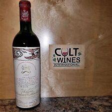 RP 90 pts! 1966 Chateau Mouton Rothschild Pauillac Bordeaux wine