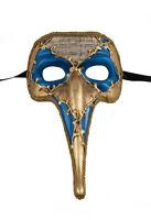Maschera Di Venezia Zanni - Lunghi Naso Symphonia Blu Dorata 125 VG17