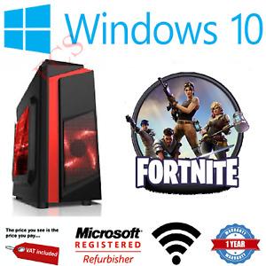 Fast Gaming PC Intel Quad Core Computer 4GB Ram 500GB HDD + 2GB Graphics HDMI