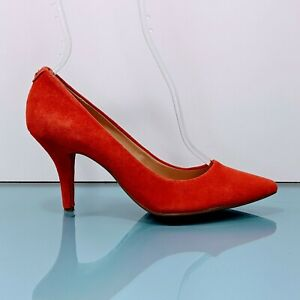 MICHAEL KORS Womens 6.5 M Coral Suede Heels Pointed Toe Classic Pumps Shoes EUC