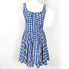 Marc Jacobs | Molly Check Dress Blue Pink Ruffles Flattering Size XS