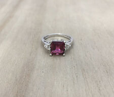 Estate Pink Tourmaline Ring 14kt Gold with Diamonds