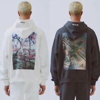 INS Fear of God FOG Essentials Hoodie Flowers BOXY PHOTO Unisex Loose Tops Coat