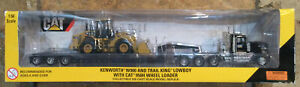 Norscot CAT Kenworth & Trail King Lowboy Wheel Loader 55208 1:50 Scale Brand New