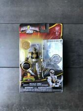 "POWER RANGERS 20 Metallic Force MIGHTY MORPHIN WHITE RANGER 3.75"" ACTION FIGURE"