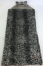 Pottery Barn Pb Teen Faux Fur Snow Leopard Print Hooded Sleeping Bag