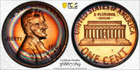 1968-S Lincoln Memorial Cent Penny 1c PCGS PR67 RB  AWESOME RAINBOW TONING