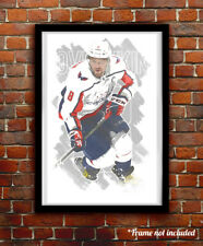 ALEXANDER OVECHKIN watercolor painting art print/poster WASHINGTON CAPITALS