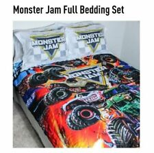 MONSTER JAM FULL 5 PIECE REVERSIBLE BLANKET BED IN A BAG SET GRAVE DIGGER TRUCK