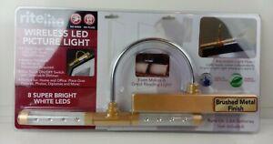 Rite Lite RiteLite Wireless LED Picture Light Gold NEW Sealed