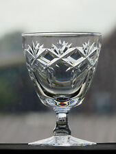 """WEBB CORBETT CRYSTAL """"PRINCE CHARLES"""" CUT GLASS CLARET WINE GLASS- 3 7/8"""" TALL"""