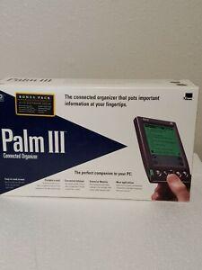 3Com Palm III PDA Sync Cable Cradle Software Manuals In Original Box