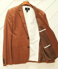 LikeNew_H&M Copper Brown SportCoat w/Tan Corduroy Collar_SlimFit 42R_Patch Pckts