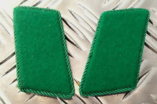 Genuine East German Forces Collar Tabs Green With Green Border DDR NVA  - NEW