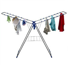 Folding Clothes Drying Rack with Zippered Laundry Bag