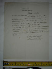 Used letter dated November 1916? to actor Charles V. France from unknown (#C)