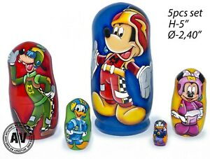 Mickey Mouse Mixed-Up Adventures nesting dolls, Disney Matryoshka, Stacking dol