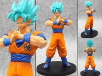 Anime Figure Jouets Dragon Ball Z Son Goku Figurine Statues Blue Hair 18cm