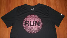 Nike DRI-FIT jogging Running T-Shirt mens womens Large ATHLETIC CUT