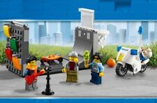LEGO City Skate Park Police Motorcycle & 3 Minifigures Train Town Scenery 60197