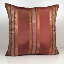 Copper, Tan and Gold Decorative Throw Pillow Cover,  Accent Pillow - Silk Blend