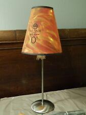 Bacardi Silver O3 ~Plug-In Lamp~ Hefty Base_Pinwheel Shade Ltd Bar Promo ~NEW~