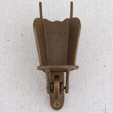 Vintage Bronze Brass Wheelbarrow Door Knocker Garden Cottage French Country