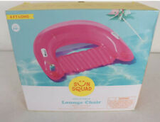Chill Pool Lounge Pink Float 4 Ft Long  Inflatable Lounge Chair New