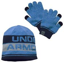 Under Armour Boys Youth Beanie & Gloves Set 3-COLORS (ONE SIZE) NWT MSRP $30