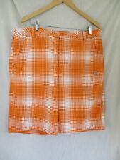 Puma Sport Life Style  Mens Golf Shorts Size 38 Orange White Plaid