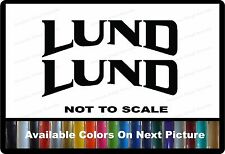"2 Lund Boat Decals Left & Right 11"" x 3"" Custom Vinyl Decals"
