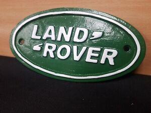 "** VINTAGE STYLE CAST IRON  ""LAND ROVER "" SIGN GARAGE MAN CAVE WORKSHOP FARM"