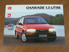 c1992 Daihatsu Charade 1.3 original Australian single page brochure