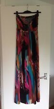 Ladies Club L Multi Coloured Sleeveless Bandeau Jersey Maxi Dress - Size S/M