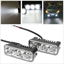 2x 3 LED White High Power Car DRL Daytime Running Light Fog Lamp Universal 12V