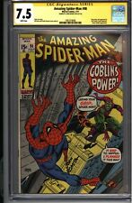 * Amazing SPIDERMAN #98 CGC 7.5 Signed Romita Green Goblin CCA! (1961018008) *