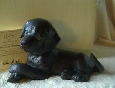 Lenox BLACK LABRADOR RETRIEVER PUPPY DOG NIB COA
