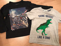 VGC Dinosaur🦕  clothes bundle age 3-4 years, H&M T-shirt With Sequins, NEXT Top