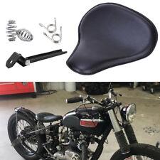 Motorcycle Solo Seats Black Leather For Triumph America Bonneville 750 Bobber GS