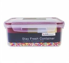 New 4 x 1.1L Clip & Lock Plastic Air Tight Food Storage Containers