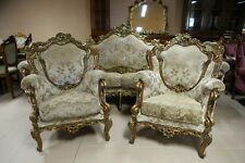 Set di mobili in stile barocco-DIVANO 4 posti + 2 poltrone