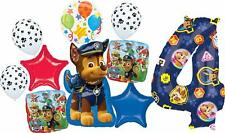 Paw Patrol Party Supplies 4th Birthday Balloon Bouquet Decorations