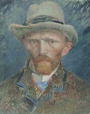 """Self Portrait of Vincent van Gogh (1887) Dutch Master - 17""""x 22"""" Art Print-00045"""